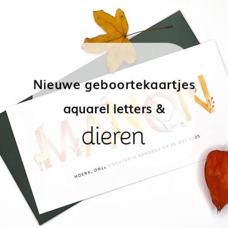 Letters en lieve dieren