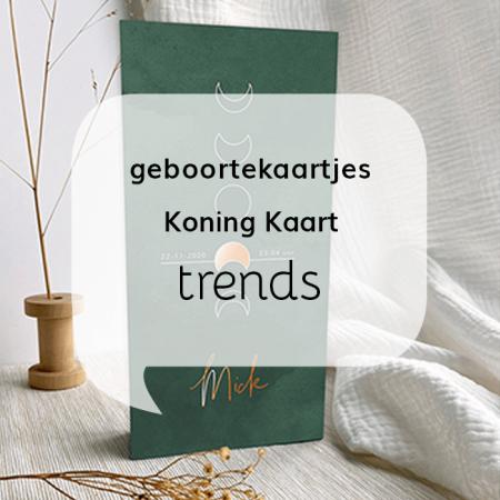 Geboortekaartjes blog Geboortekaartjes trends bij Koning Kaart