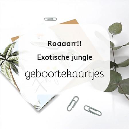 Geboortekaartjes blog Exotische jungle geboortekaartjes