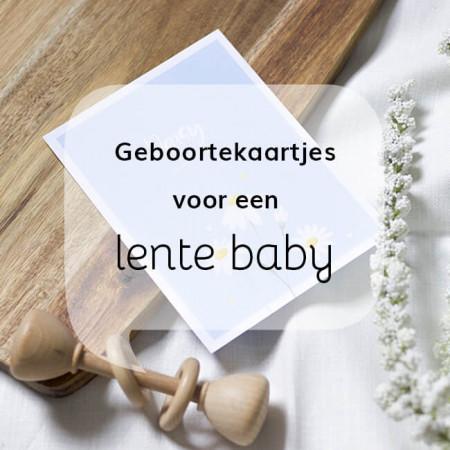 Geboortekaartjes blog Geboortekaartjes voor een lente baby
