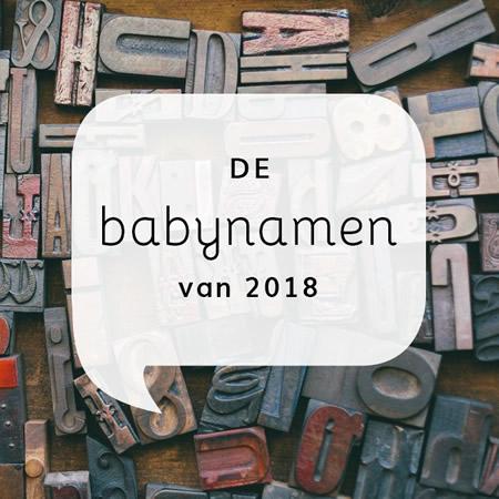 De babynamen van 2018