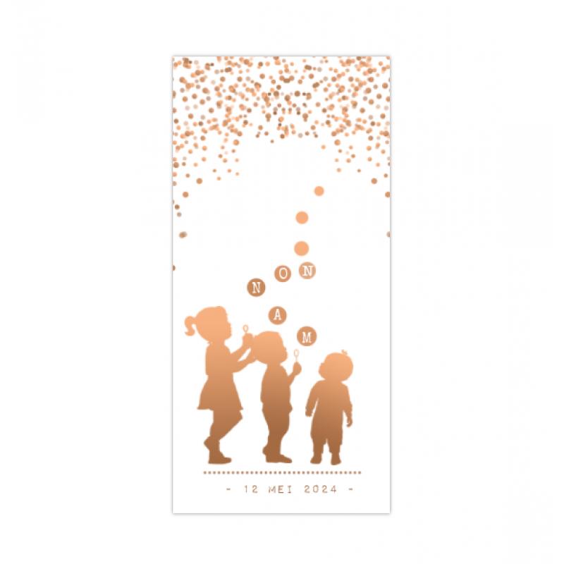 Geboortekaartje 3de kindje belleblaas