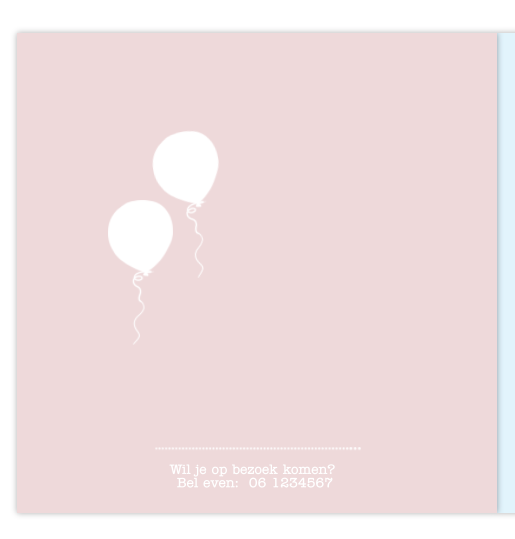Geboortekaartje 3e kindje bakfiets