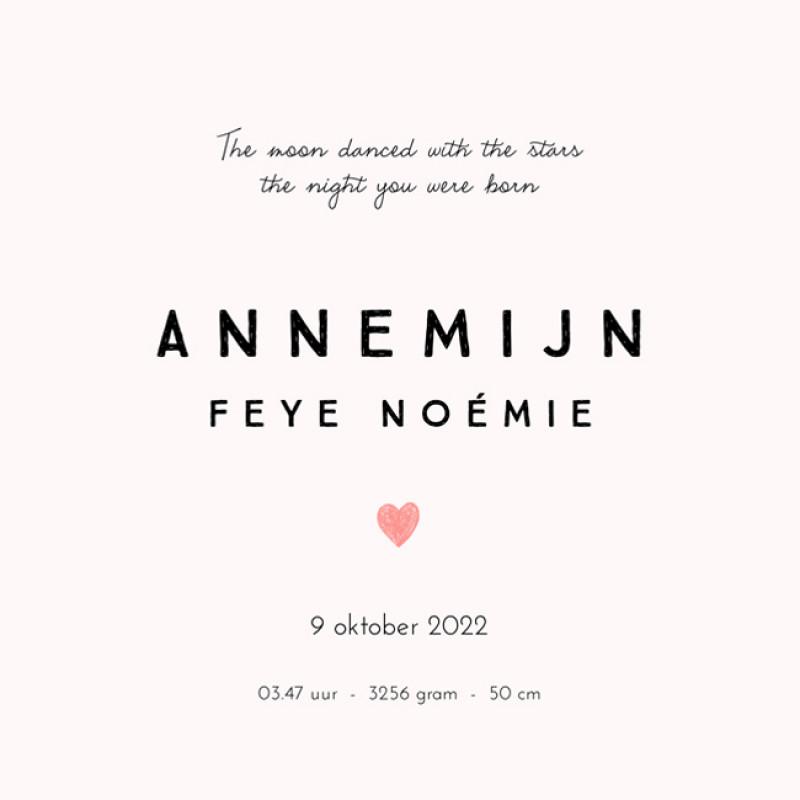 Geboortekaartje Annemijn