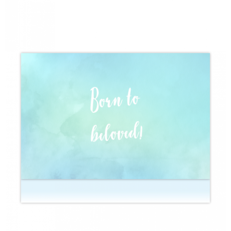 Geboortekaartje Aquarel geboortekaartje