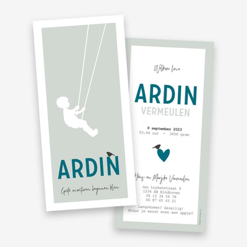 Geboortekaartje Ardin