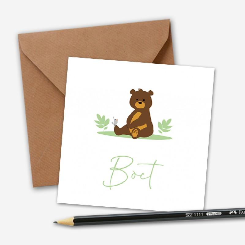 Geboortekaartje beer