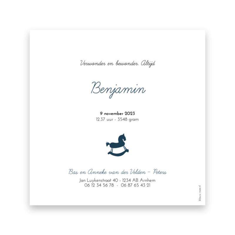 Geboortekaartje Benjamin
