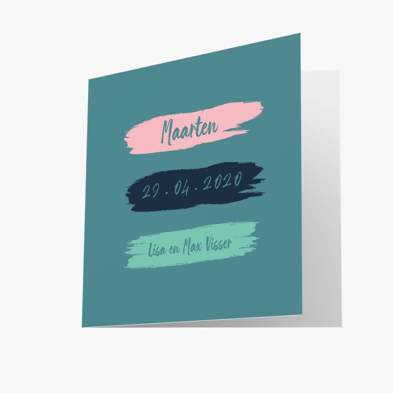 Geboortekaartje Blauw kaartje jongen
