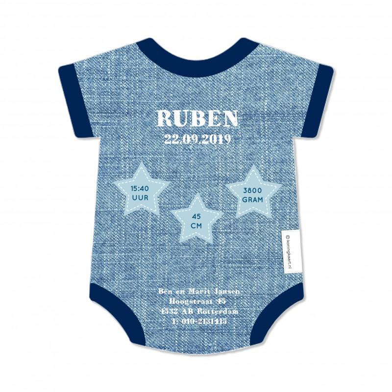 Geboortekaartje Blauw rompertje