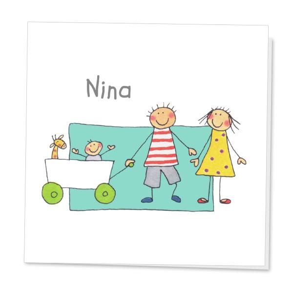 Geboortekaartje Bolderwagen 3e Kindje