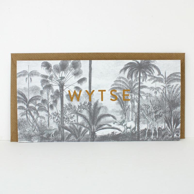 Geboortekaartje Botanische prent kaartje