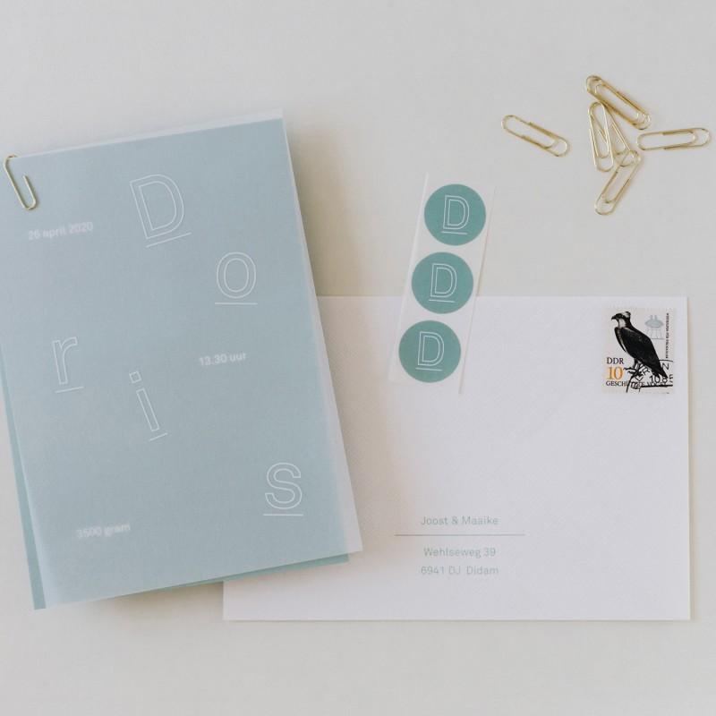 Geboortekaartje Dansende letters