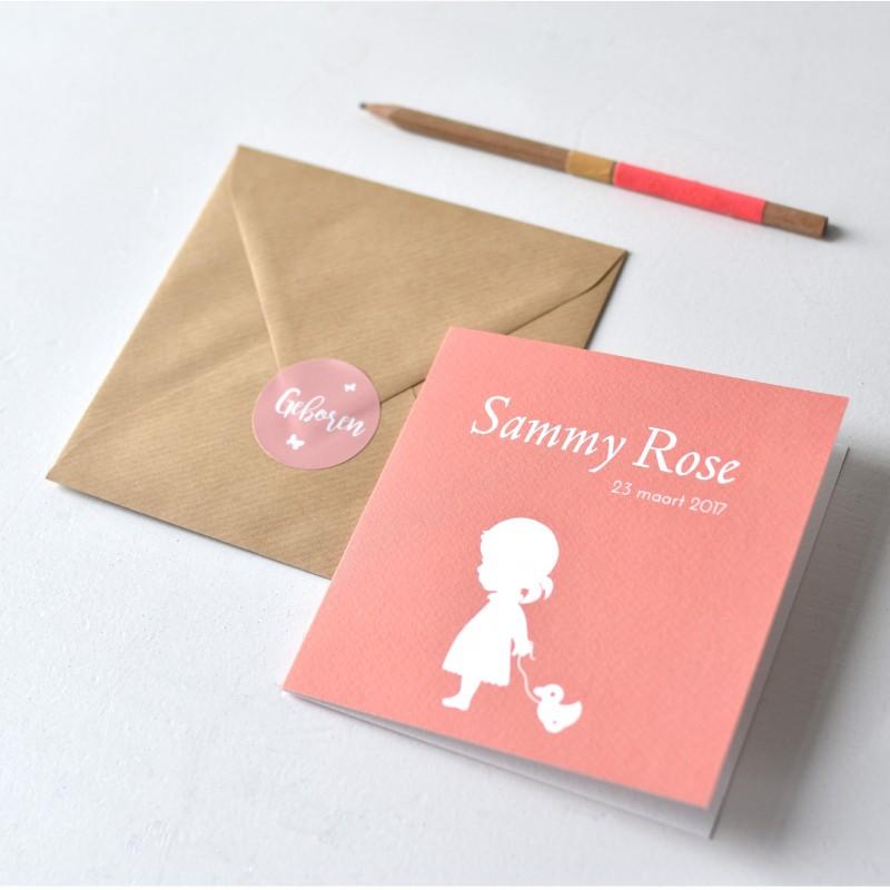 Geboortekaartje DIY silhouet  | Sammy Rose