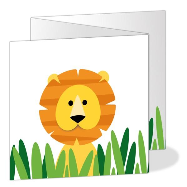 Geboortekaartje drieluikje leeuw