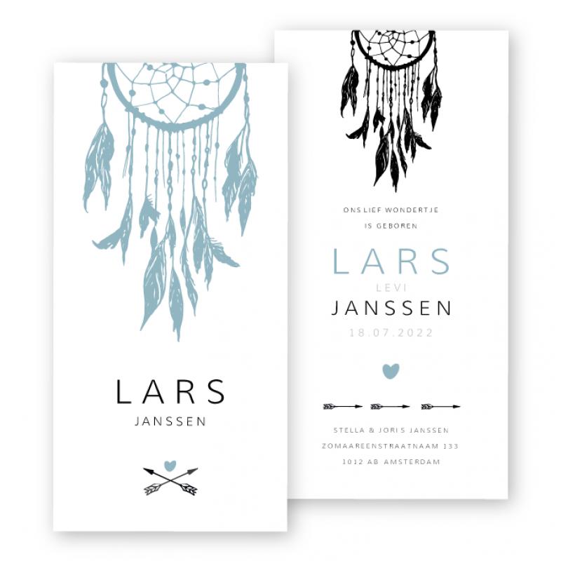 Geboortekaartje Dromenvanger Lars