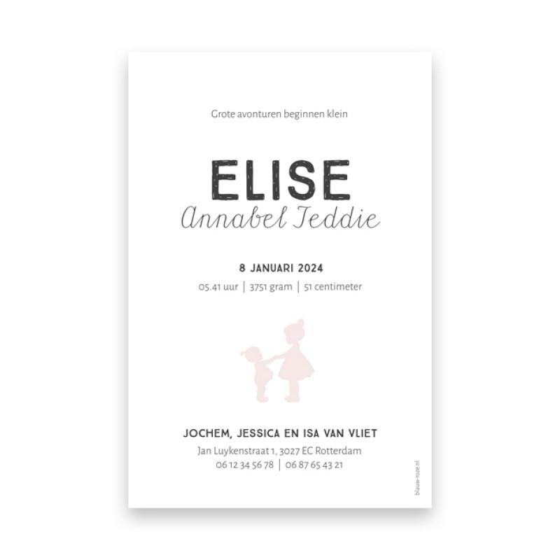 Geboortekaartje Elise