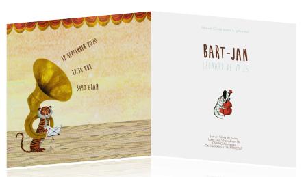 Geboortekaartje Fanfare Geboortekaartje