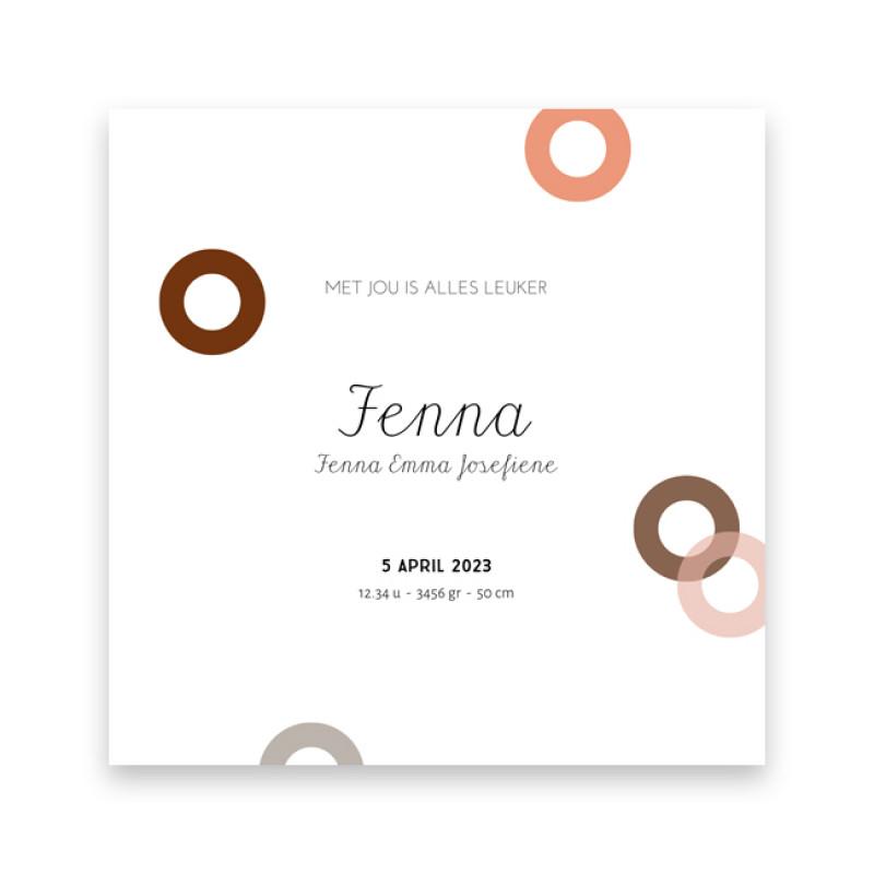 Geboortekaartje Fenna