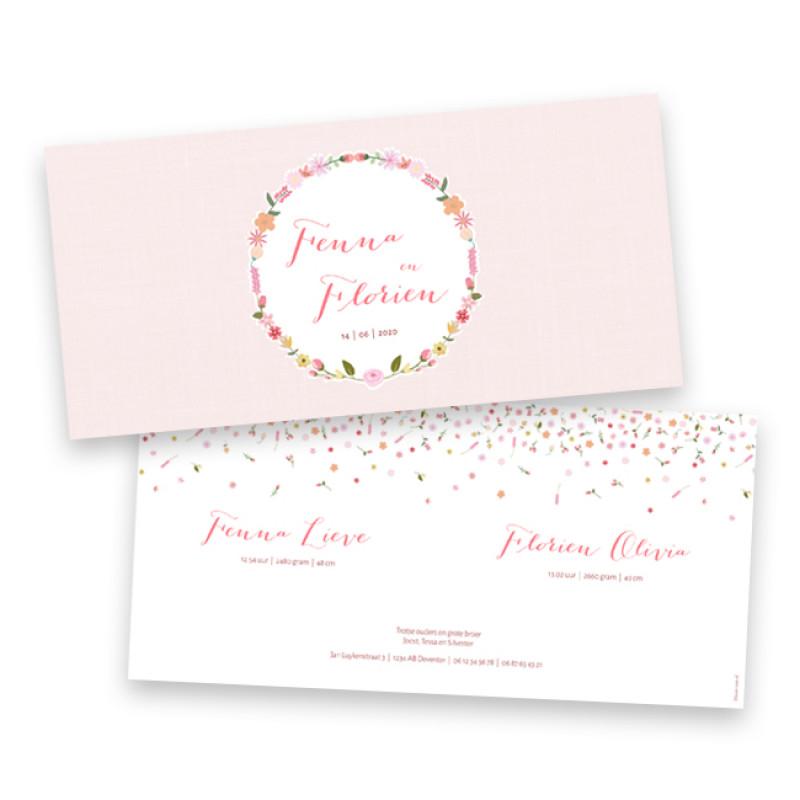 Geboortekaartje Fenna & Florien