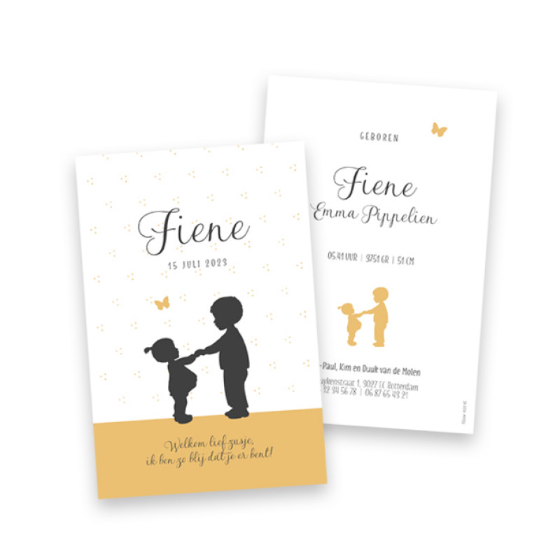 Geboortekaartje Fiene
