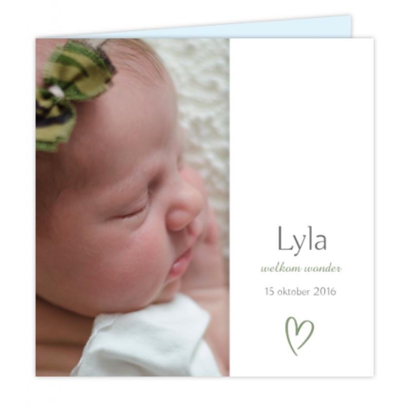 Geboortekaartje Foto kaartje