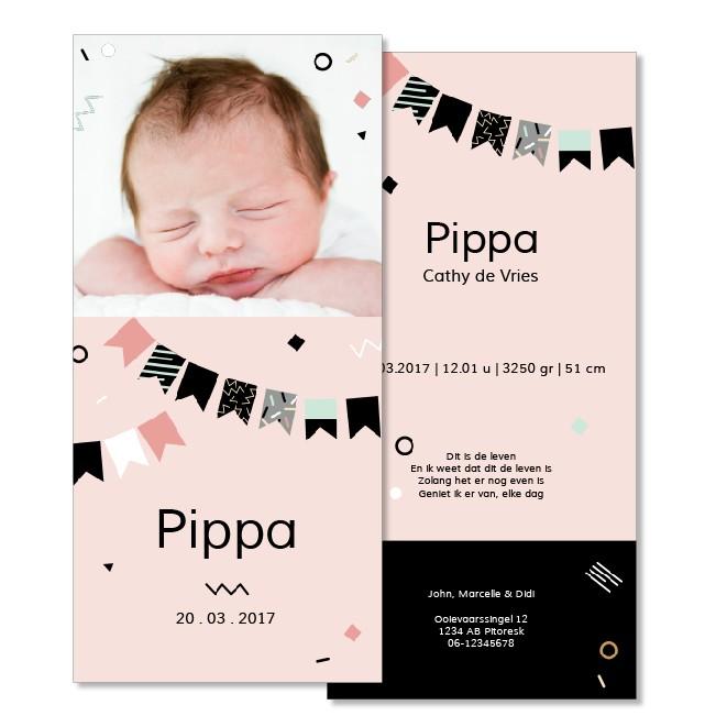 Geboortekaartje Fotokaartje  |  Pippa