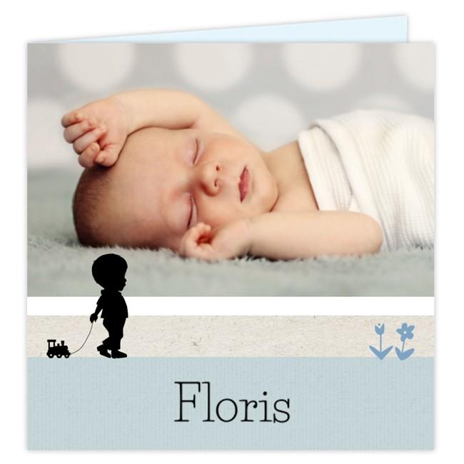 Geboortekaartje Fotokaartje silhouet