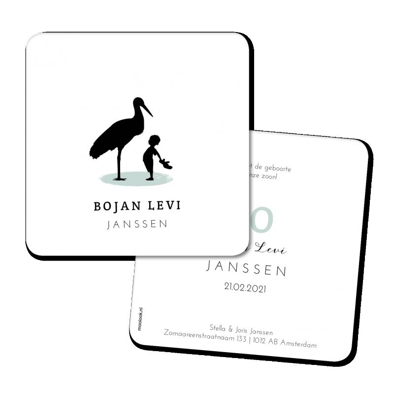 Geboortekaartje Geboortekaart - Bojan