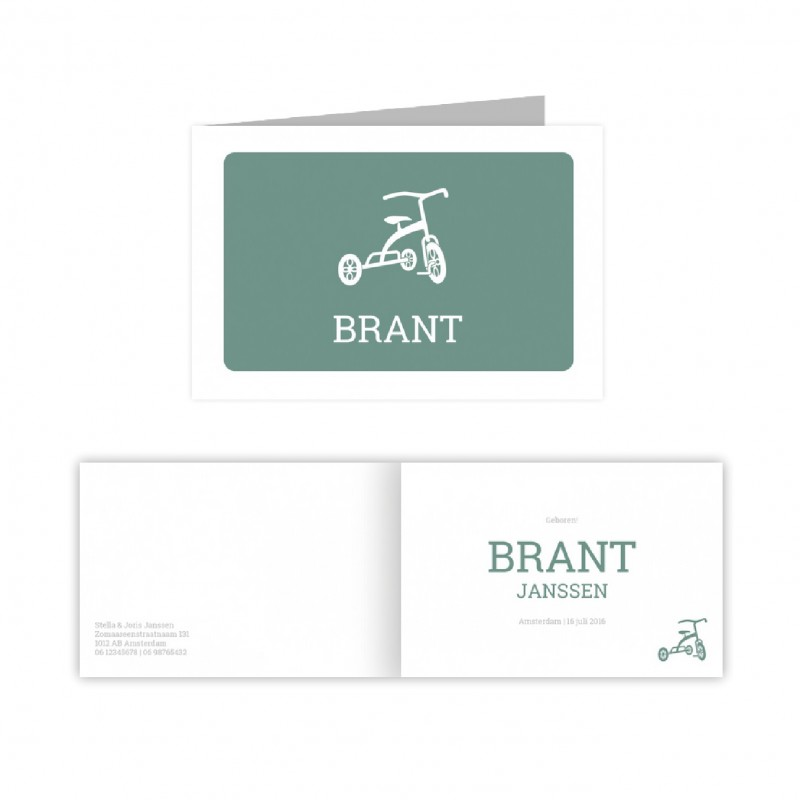 Geboortekaartje geboortekaart Brant