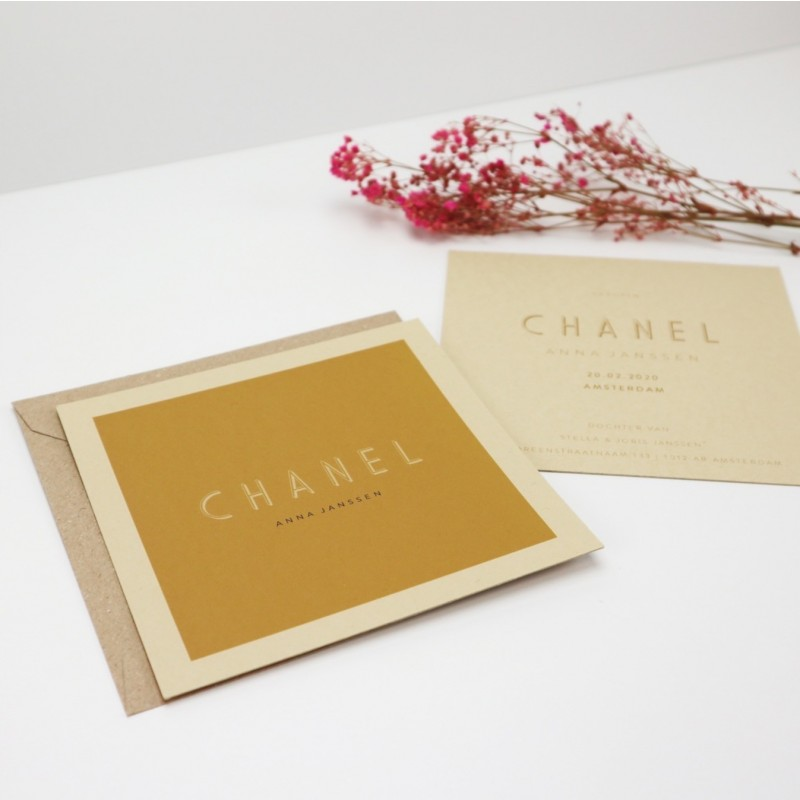 Geboortekaartje Geboortekaart Chanel