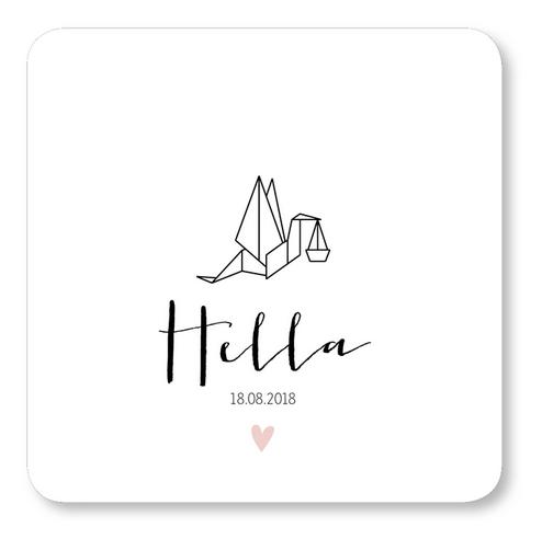 Geboortekaartje Geboortekaart - Hella