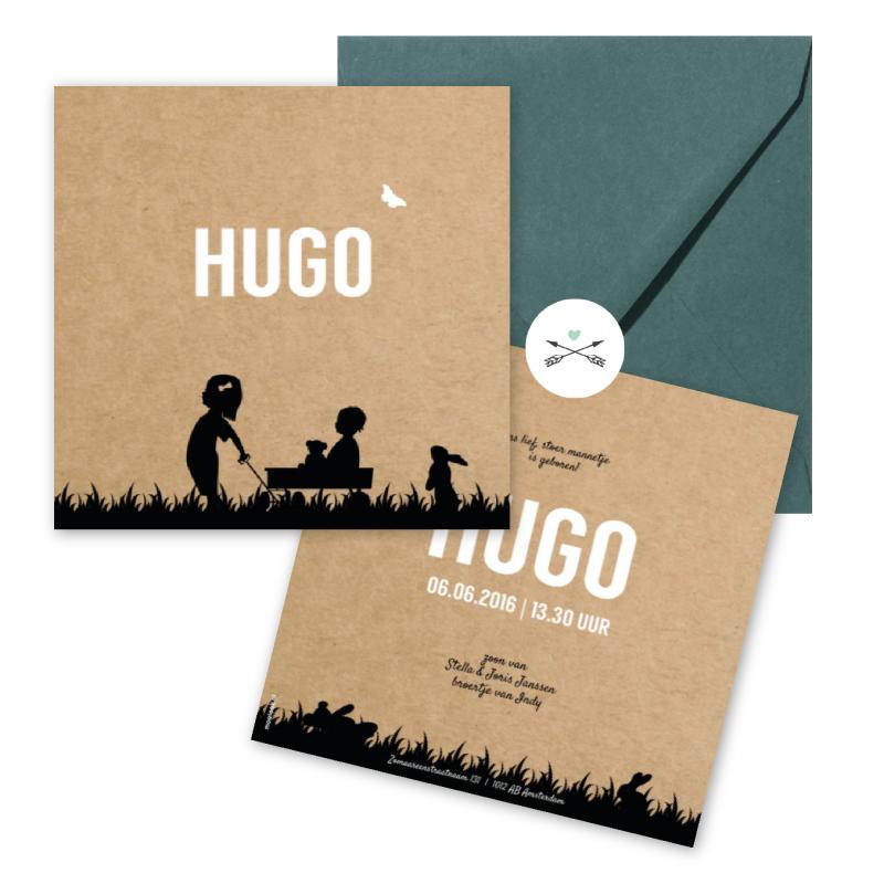 Geboortekaartje Geboortekaart - Hugo