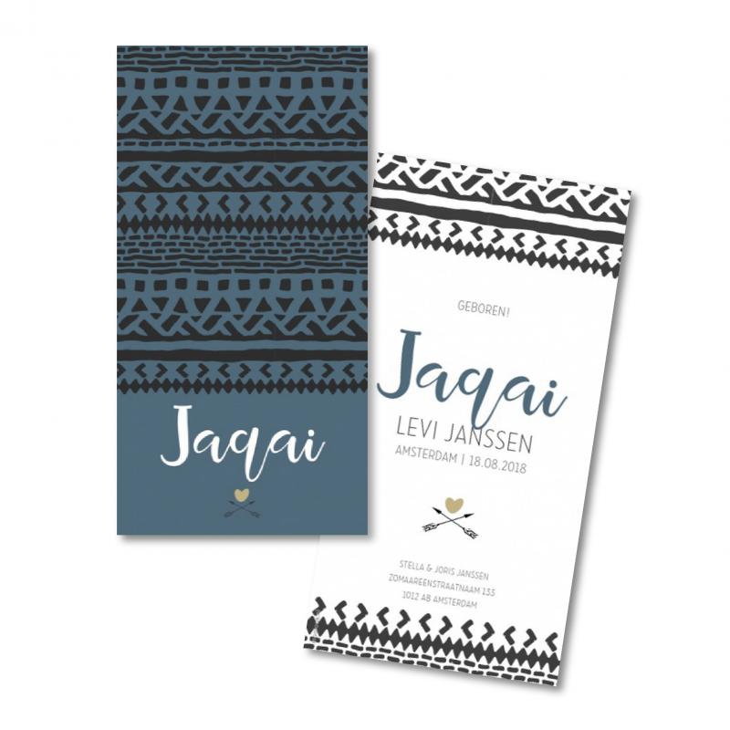 Geboortekaartje geboortekaart - Jaqay