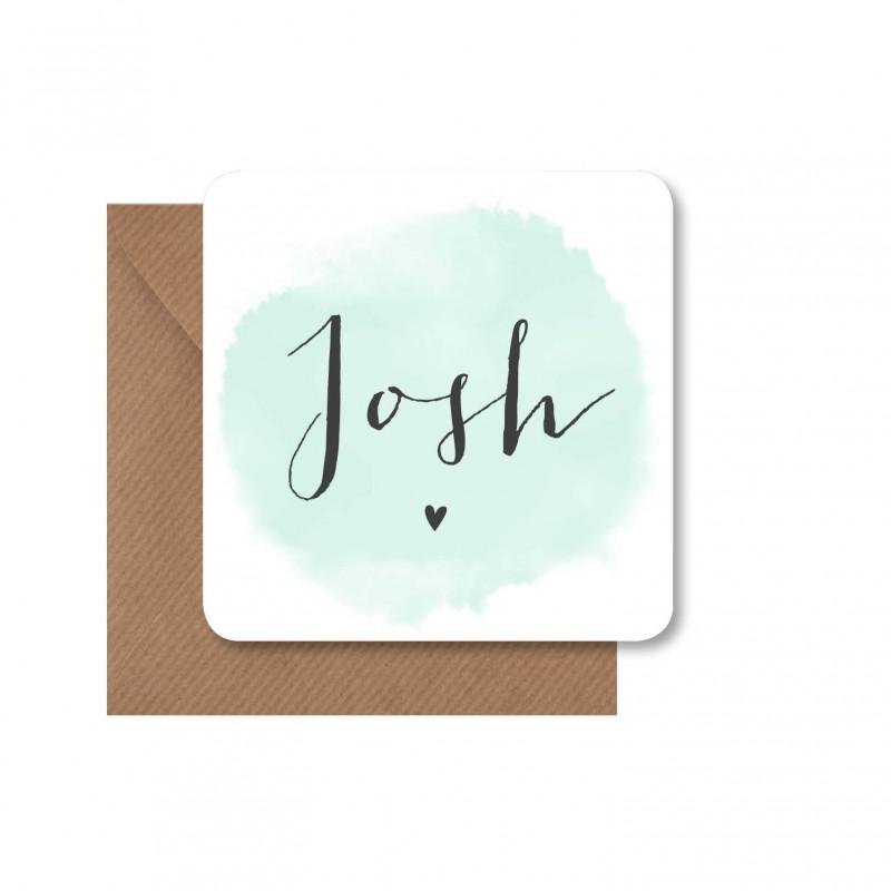 Geboortekaartje Geboortekaart - Josh