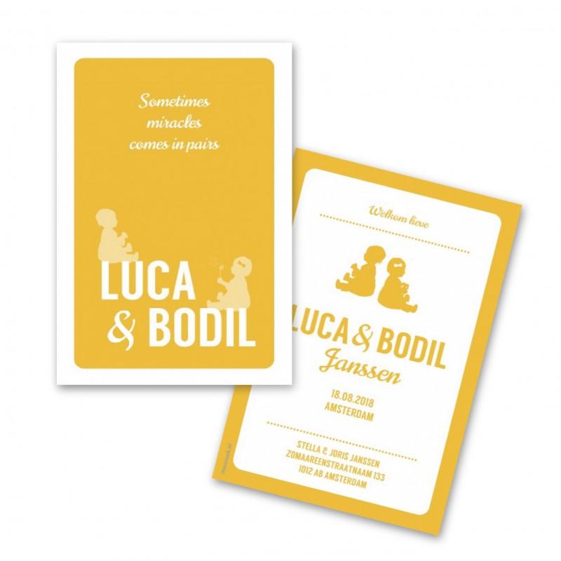 Geboortekaartje Geboortekaart Luca Bodil
