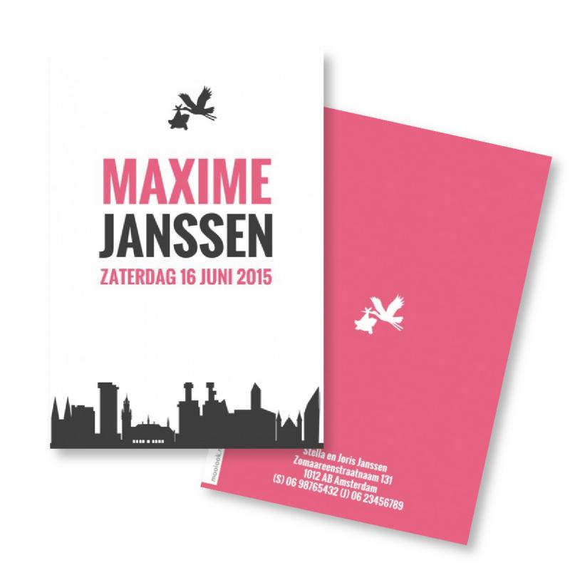 Geboortekaartje Geboortekaart - Maxime