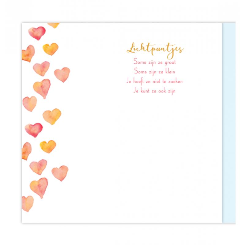 Geboortekaartje Geboortekaart met hartjes