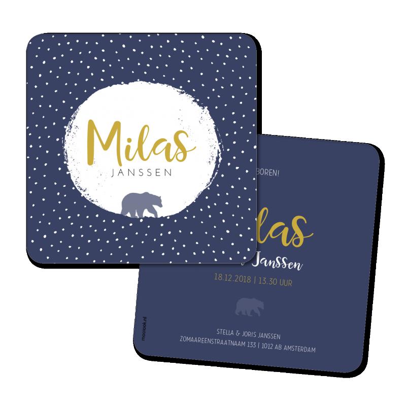 Geboortekaartje Geboortekaart - Milas
