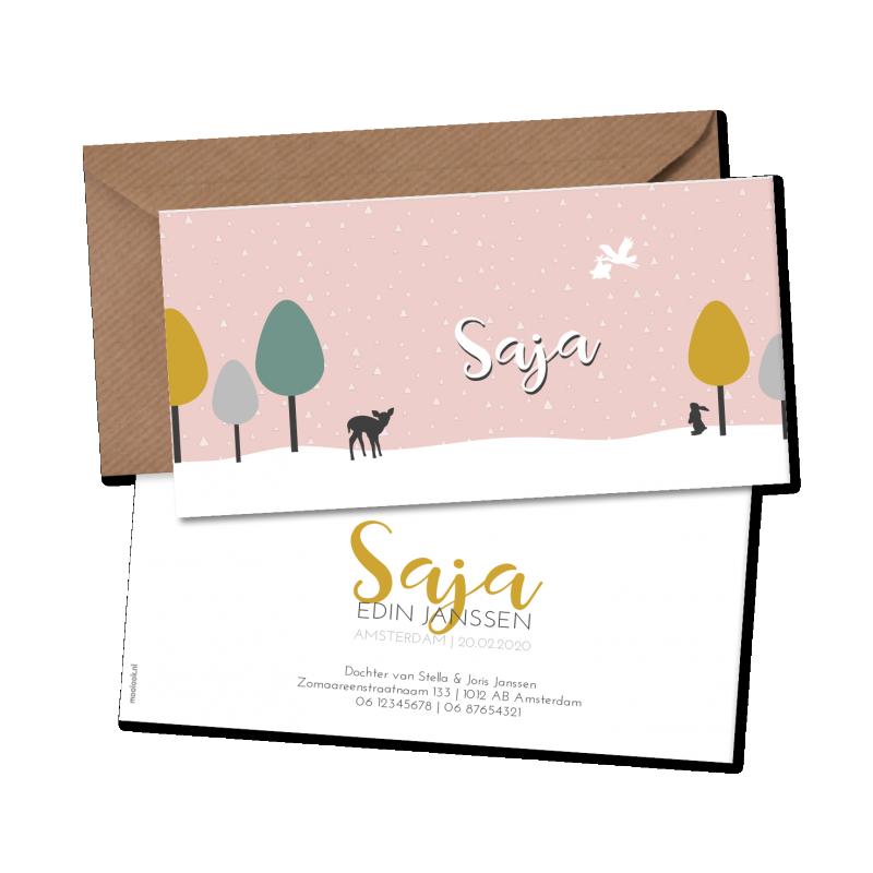 Geboortekaartje geboortekaart Saja