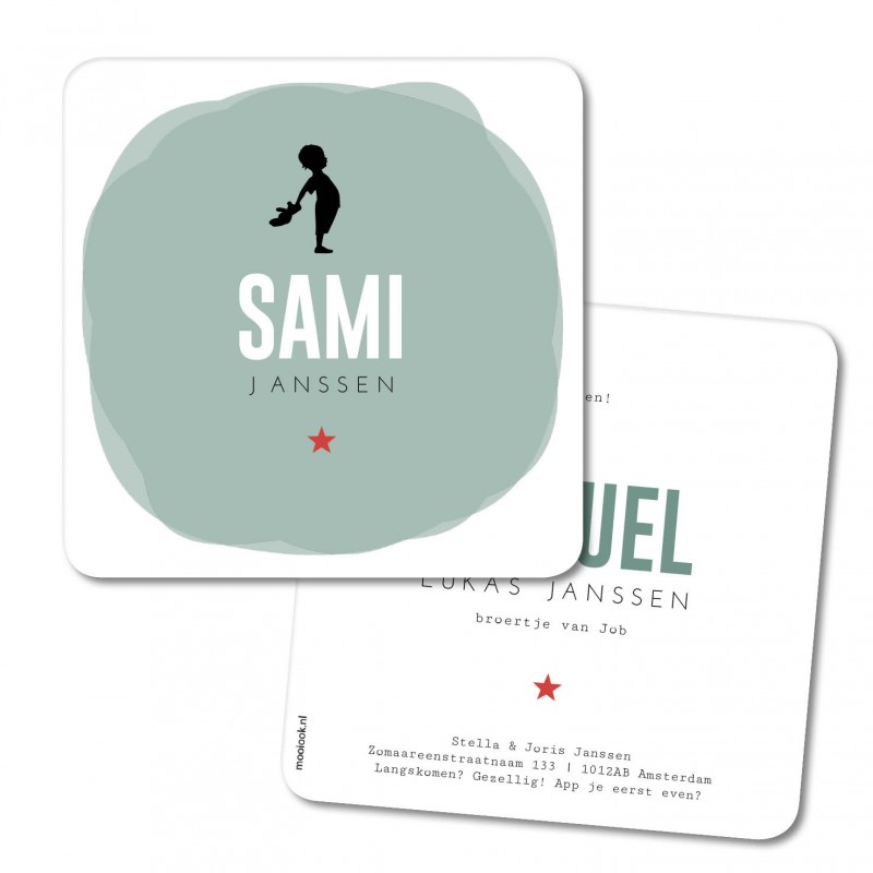 Geboortekaartje Geboortekaart - Sami