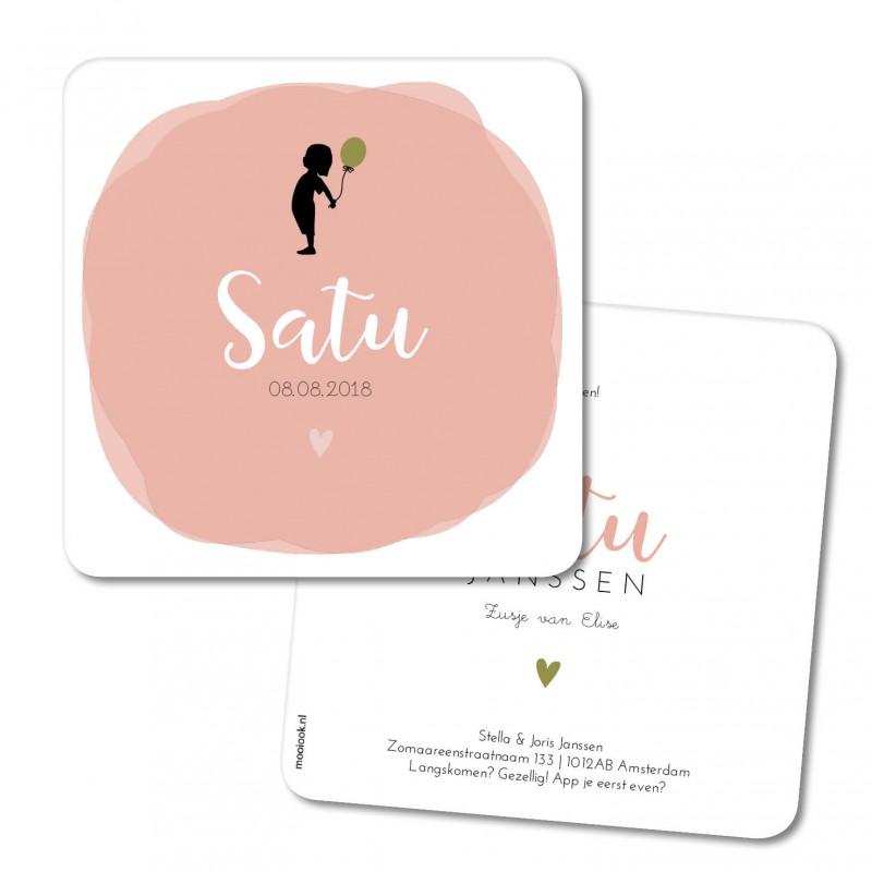 Geboortekaartje Geboortekaart - Satu
