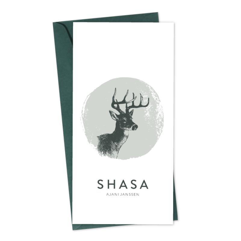 Geboortekaartje Geboortekaart Shasa