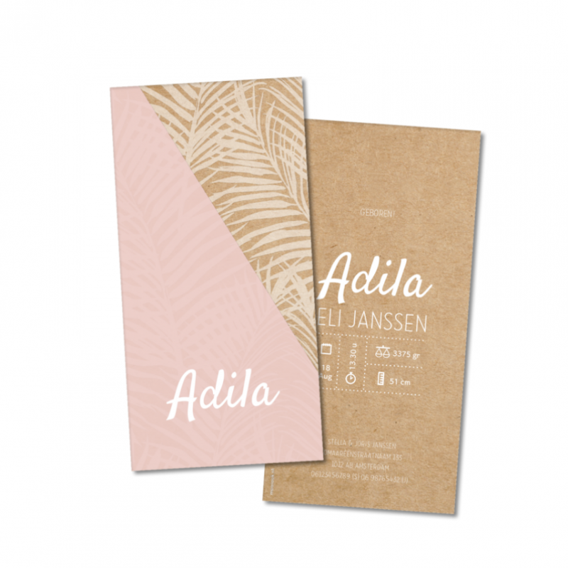Geboortekaartje Geboortekaartje Adila