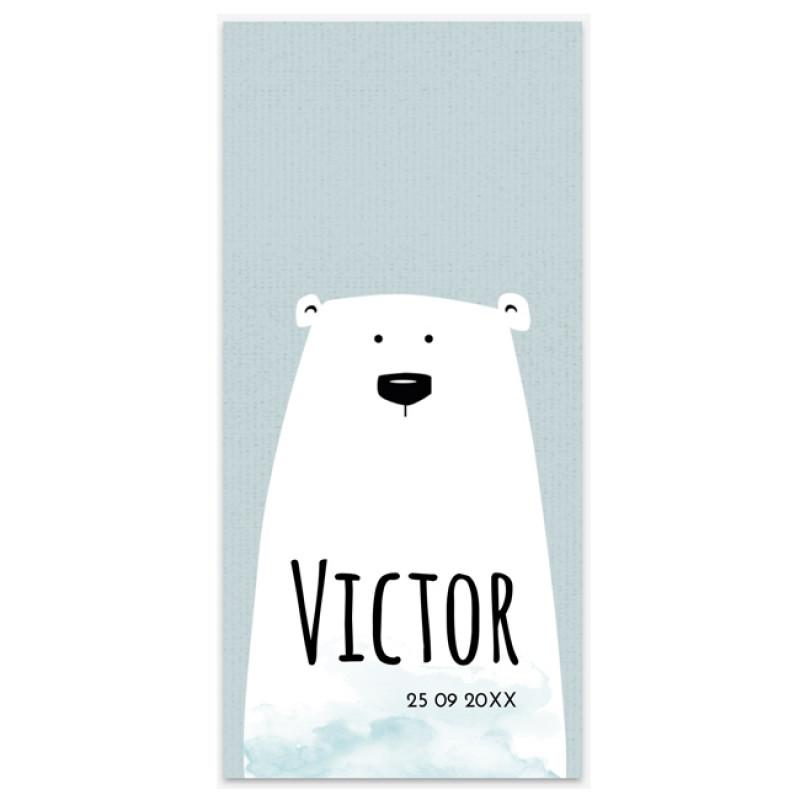 Geboortekaartje geboortekaartje beer