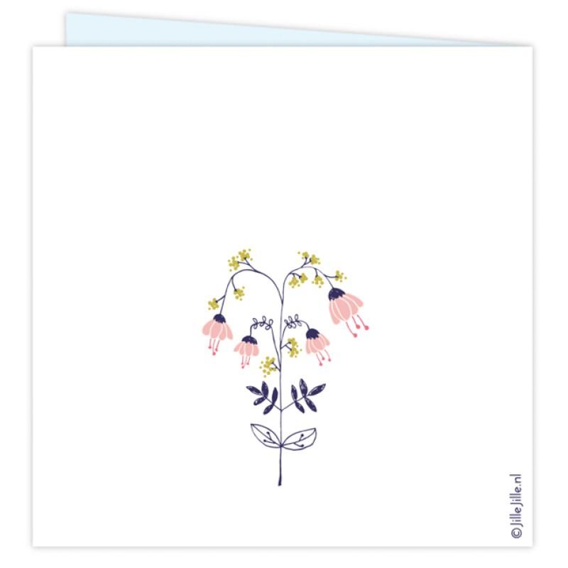 Geboortekaartje Geboortekaartje bloemetjes