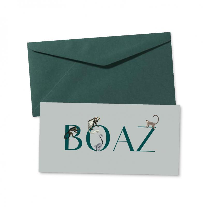 Geboortekaartje geboortekaartje Boaz