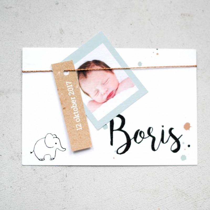 Geboortekaartje Geboortekaartje Boris