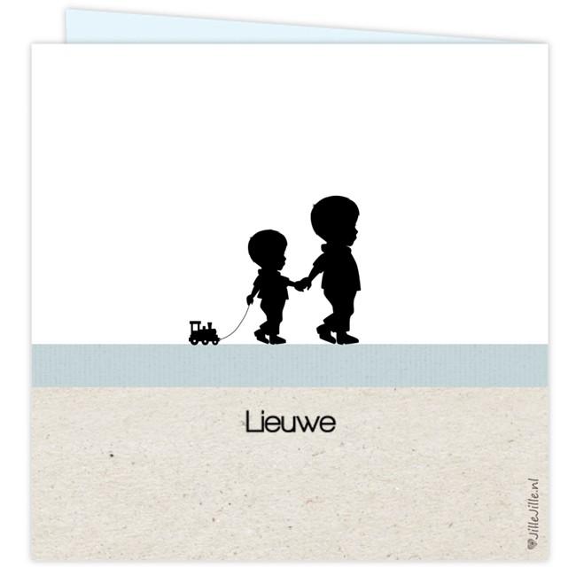 Geboortekaartje silhouet kaartje broertje