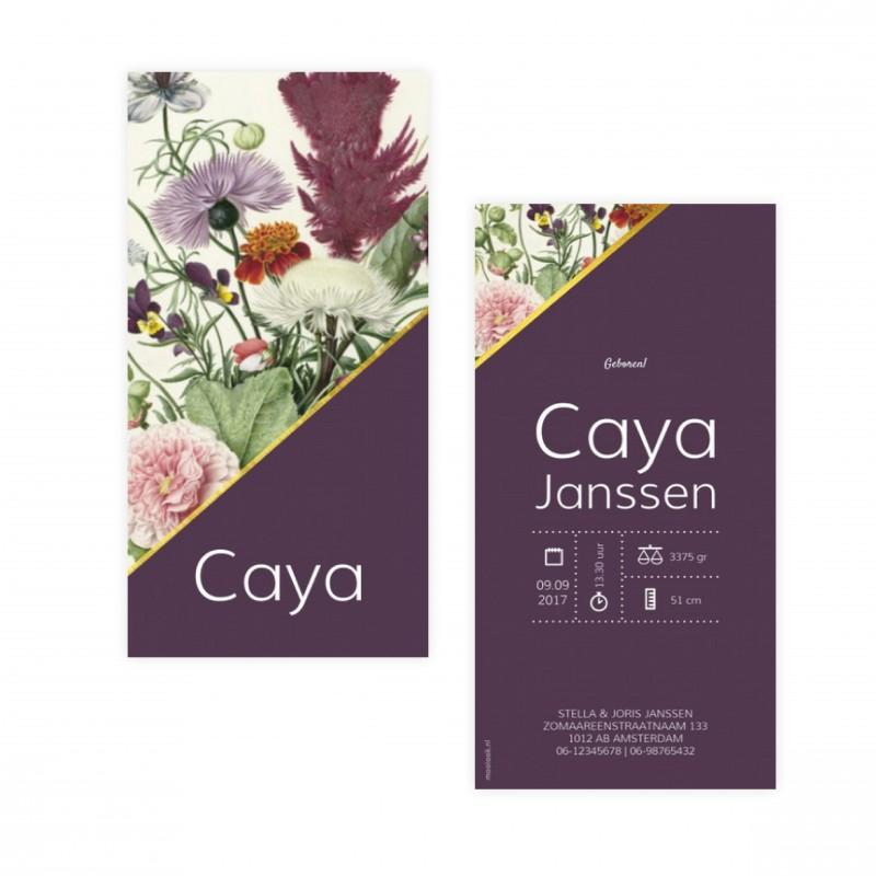 Geboortekaartje Geboortekaartje - Caya